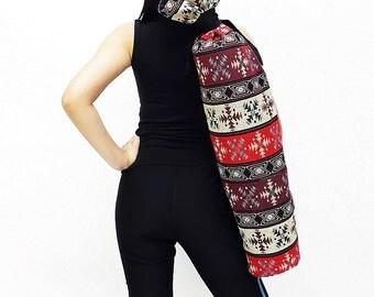 Handmade Yoga Mat Bag Yoga Bag Sports Bags Tote Yoga Sling bag Pilates Bag Pilates Mat Bag Woven Yoga Bag Women bag Woven Cotton bag (WF73)