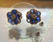 Swarovski Cobalt Crystal Earrings