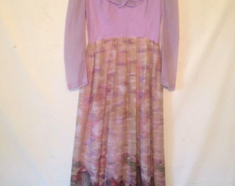 1970s lavender dress floor length dress 70s maxi dress lavender boho dress 70s long dress vintage dress Candi Jones dress boho dress