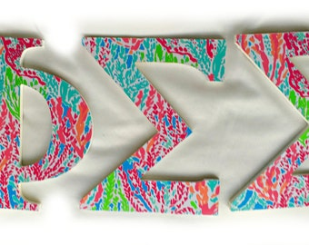 Lilly Pulitzer Inspired Greek Letters!
