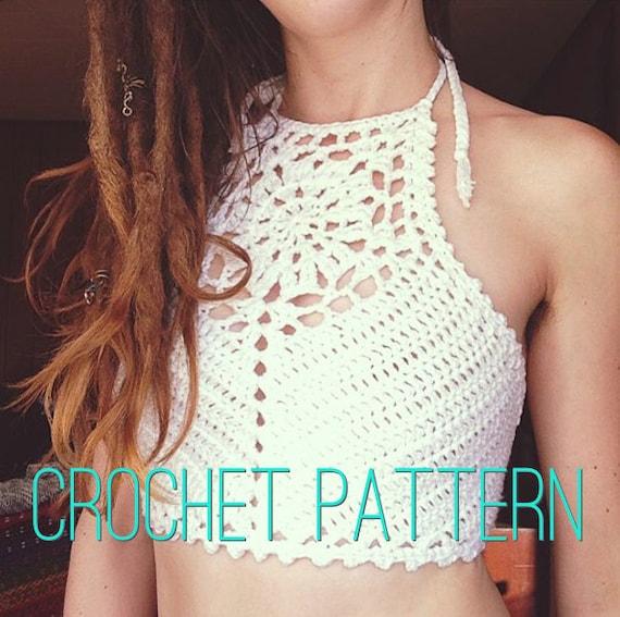 Crochet Pattern Zinnia Crochet Crop Top