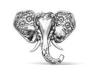 """Spoon Brooch: """"Elephant"""" by Silver Spoon Jewelry"""