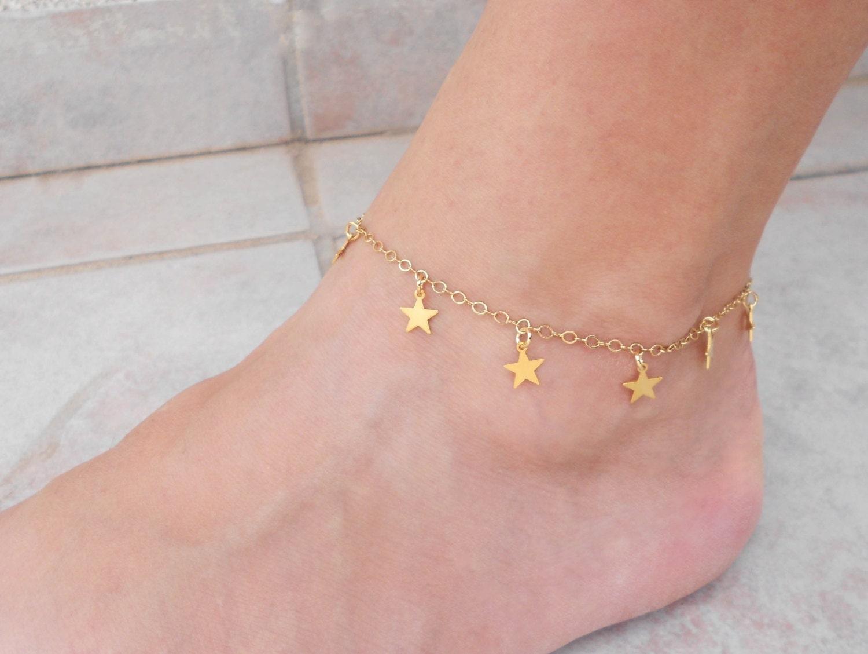 Summer SALE Gold star anklet Gold ankle bracelet