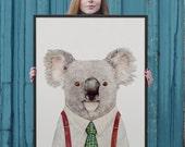 Large WALL Art, Koala Art, Australian Animal, Framed Art Print, KOALA