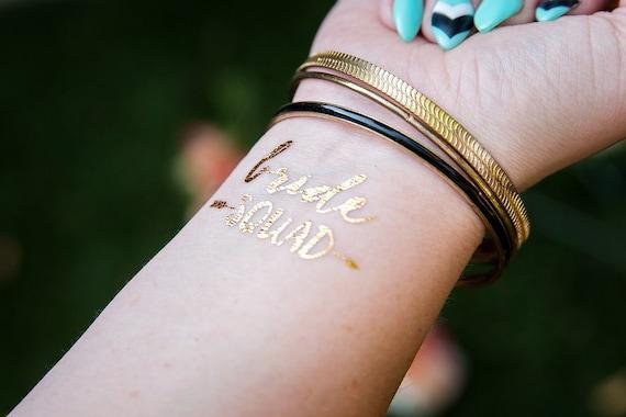 Bride squad bachelorette party favor bachelorette tattoo for Bachelorette party tattoos