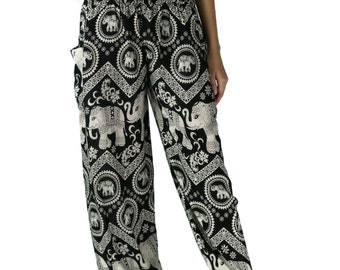 Black Elephant pants /Hippies pants /Boho pants Yoga Pants one size fits Black