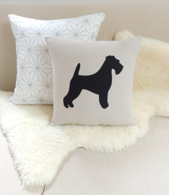 Airedale Terrier Pillow Cover - Rustic Modern