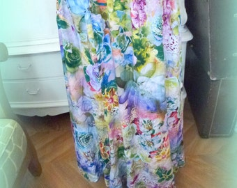 long floral skirt in size XXL