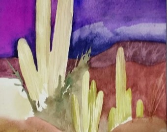 """Southwest Series  """" Tucson Infusion """" One of a Kind Original Watercolor"""