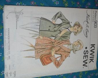 Kwik Sew 903 Ladies Jacket Sewing Pattern - UNCUT Size 14 16 18 20
