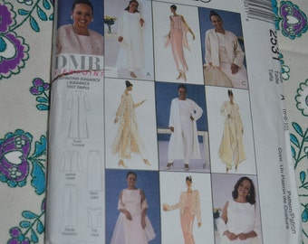 McCalls 2531 Misses Duster Jacket Top Pants Skirt and Stole Sewing Pattern - UNCUT - Sizes 6 8 10