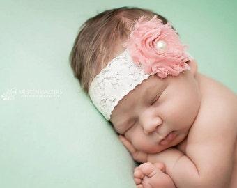 FREE SHIPPING! Baby Headband - Pink Baby Headband, Baby Headbands, Pink Headbands, Newborn Headbands