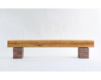 Wood Fireplace Mantel, Fireplace Mantel, Salvaged Wood Mantel, Reclaimed Wood Mantel, Cedar Mantel, Rustic Wood Mantel, Wood Mantel