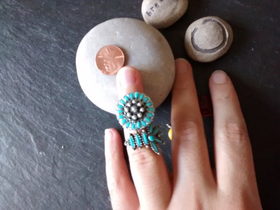 CHOOSE faux turquoise Native American adjustable rings Pocahontas Princess Halloween costume jewelry Day of the Dead accessory birthday gift