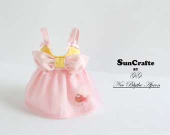 Handmade Neo Blythe Apron with Bow  by Sun-Crafte Summer 2016