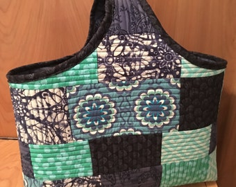 One of a Kind Batik Quilted Tote