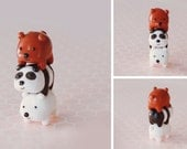 We Bare Bears Bearstack Polymer Clay Figure Charm Polar Grizzly Panda