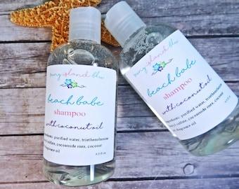 Beach Babe Shampoo - Shampoo - Peach Shampoo - Hair Shampoo - Coconut Shampoo - Vegan Shampoo - Liquid Shampoo - Paraben Free Shampoo