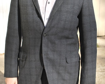 Charcoal Windowpane/ Plaid Sport Jacket