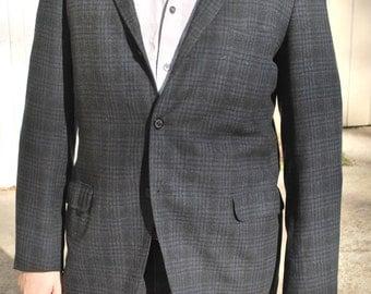 Charcoal Windowpane/ Plaid Sport Jacket