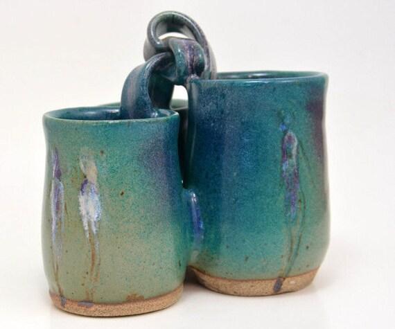 Pottery Ceramic Flatware Caddy For Valentine By Elenamadureri