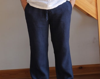Man navy white grey blue green cofee milk pants wide legs pants relaxed pants linen beach wedding party special occasion groom groomsmen bir