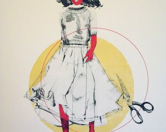 Dress pattern | A bit of Fashion Illustration A2 (42x59 cm) Screenprint
