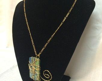 Gold Wirework Pendant