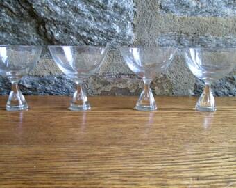 Vintage Kastrup Holmegaard Princess Champagne Glasses Set of 4