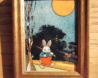 Peter Rabbit Framed Original Art from Thornton W. Burgess Museum Collection by Harrison Cady