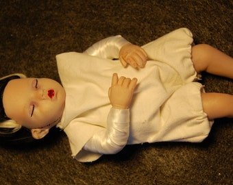 One of a Kind Hand Sculpted Baby Bride of Frankenstein Art Doll