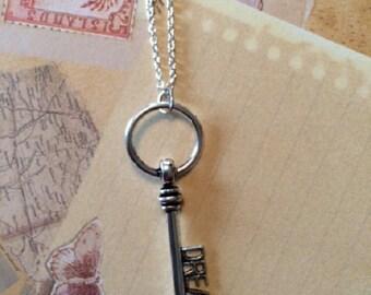 Dream Necklace - Dream Jewelry - Key Necklace - Key Jewelry - Dream Necklace in Handmade - Word Necklace - Word Jewelry - Silver Necklace