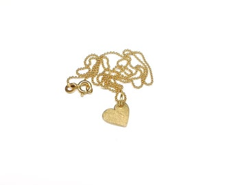 Gold necklace heart 333 yellow gold