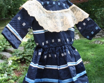 Vintage Child's Dress or Doll's Dress for Large Doll