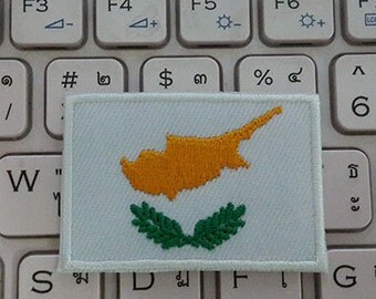 Cyprus Flag Iron on patch - Flag Applique Embroidered Iron on Patch