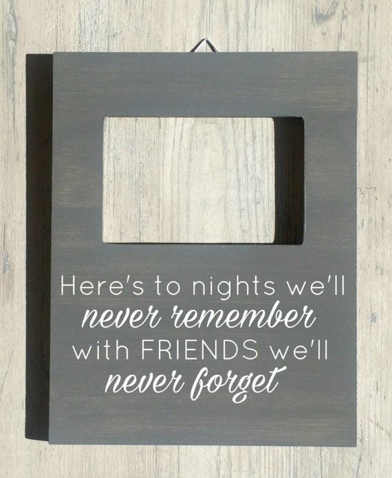 Friendship Picture Frames With Quotes: Friend Quote Picture Frame Personalized Friend By