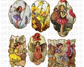 Cicely Mary Barker Flower Fairies - Digital TAGS/Labels, Digital Graphics, Craft, Scrapbooking, Cards - Pack 1