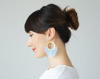 Statement Earrings Spring Fashion Summer Trends Blue Earrings Boho-Chic Fashion Bohemian Earrings Gift for Her Women Accessory Gift/ GELARI