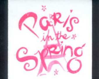 Paris In The Spring Stickers - Handmade Cards, Collage, Scrapbooking