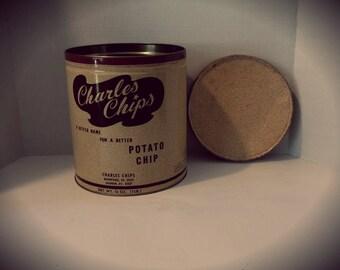 Vintage Charles Chips Potato Chip Tin
