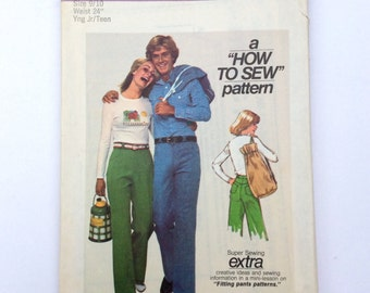 Simplicity 7867, Young Junior/Teens' Pattern, Pants and Bag Pattern, How to Sew Pattern, Size 9/10, Vintage Pattern, Uncut