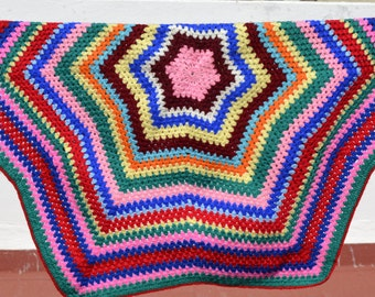 crochet multicolored carpet