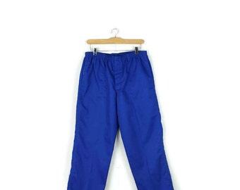 Vintage LEVI'S Vivid Blue Cotton Track Pants  from 80's*