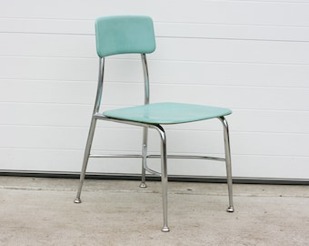Vintage School Chair Aqua Vintage Chair Children S Chair Molded Fiberglass Childrens School Chair