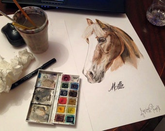Custom Watercolour Equine Portrait