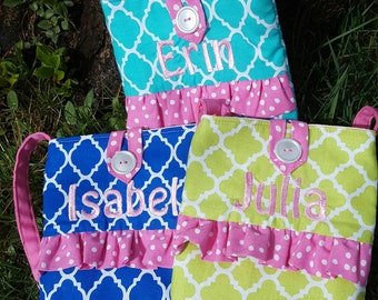 Toddler Purse, Little Girl's  Personalized Purse, First Purse, Flower Girl Purse, Quatrefoil Purse, Girl's, Girl's Monogrammed Purse