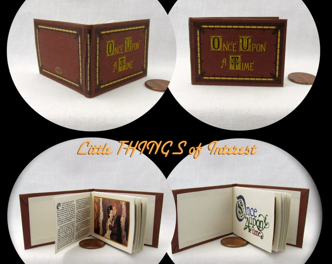1:6 Scale ONCE UPON A TIME Book Of Fairy Tales Miniature Book Play Scale 6th Scale Dollhouse Doll Book