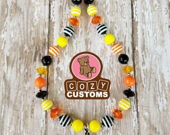Witch Pumpkin Mini Chunky Necklace