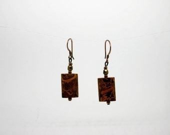 Elephant Skin Jasper Earrings