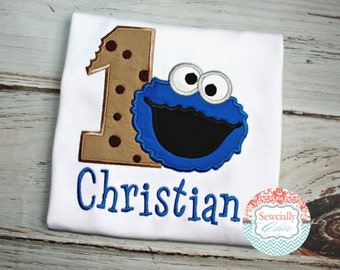 Cookie Monster Birthday Shirt, Sesame Street, First Birthday Shirt, Sesame street birthday, Cookie Shirt,